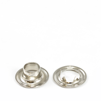 "Thumbnail Image for Grommet with Tooth Washer #4 Brass Nickel Plated 1/2"" 1-gr (ED) (ALT)"