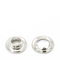 "Thumbnail Image for Grommet with Tooth Washer #2 Brass Nickel Plated 3/8"" 25-gr (ED) (ALT)"