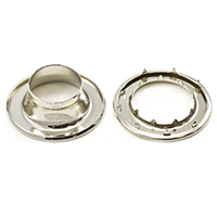 "Thumbnail Image for Rolled Rim Grommet with Spur Washer #7 Brass Nickel Plated 29/32"" 1-gr (ED) (ALT)"