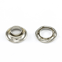 "Thumbnail Image for DOT Rolled Rim Grommet with Spur Washer #1 Nickel Plated Brass 13/32"" 25-gr"