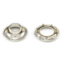 "Thumbnail Image for DOT Rolled Rim Grommet with Spur Washer #3 Nickel Plated Brass 15/32 "" 25-gr"
