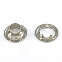 "Thumbnail Image for DOT Grommet with Tooth Washer #4 Nickel Plated Brass 1/2"" 25-gr"