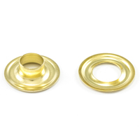 "Thumbnail Image for DOT Grommet with Plain Washer #1 Brass 9/32"" 25-gr"