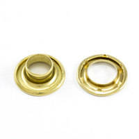 Thumbnail Image for DOT Rolled Rim Grommet with Spur Washer #2 Brass 7/16