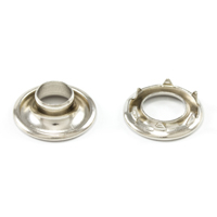 Thumbnail Image for DOT Rolled Rim Grommet with Spur Washer #0 Nickel Plated Brass 9/32