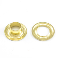 "Thumbnail Image for DOT Grommet with Plain Washer #4 Brass 1/2"" 1-gr"