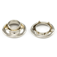 Thumbnail Image for DOT Rolled Rim Grommet with Spur Washer #1 Nickel Plated Brass 13/32