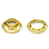 Thumbnail Image for DOT Rolled Rim Grommet with Spur Washer #1 Brass 13/32