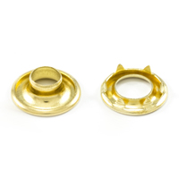 Thumbnail Image for DOT Rolled Rim Grommet with Spur Washer #0 Brass 9/32