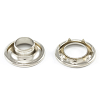 Thumbnail Image for DOT Rolled Rim Grommet with Spur Washer #3 Nickel Plated Brass 15/32