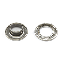 "Thumbnail Image for DOT Self-Piercing Rolled Rim Grommet with Spur Washer #5 Stainless Steel 5/8"" 1-gr"
