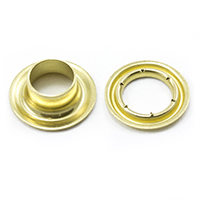 "Thumbnail Image for Sharpened Edge Self-Piercing Grommet with Small Tooth Washer #1 Brass 5/16"" 500-pk"