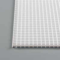 "Thumbnail Image for Fluorescent Eggcrate Louvers #20 Styrene 1/2"" x 1/2"" x 1/2"" Cell White 10-pk"