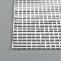 "Thumbnail Image for Fluorescent Eggcrate Louvers #24 Styrene 1/2"" x 1/2"" x 3/8"" Cell White 15-pk"