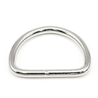Thumbnail Image for Dee Ring Welded #3250 Nickel Plated Steel 2""