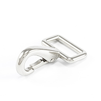 Thumbnail Image for Snap Hook #248B-0 Nickel Plated Brass Solid Square Eye 1""