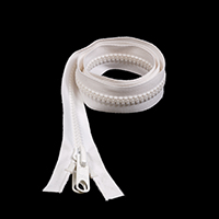 "Thumbnail Image for Sunbrella SUNZIP III #10 Separating Zipper Automatic Lock Double Pull Metal Slider  36"" White"