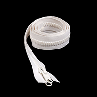 "Thumbnail Image for Sunbrella SUNZIP III #10 Separating Zipper Automatic Lock Double Pull Metal Slider  60"" White"
