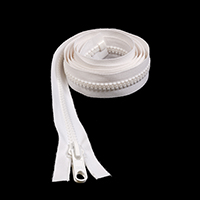 "Thumbnail Image for Sunbrella SUNZIP III #10 Separating Zipper Automatic Lock Double Pull Metal Slider  72"" White"