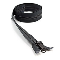 Thumbnail Image for YKK® VISLON® UV #8 Separating Zipper Non-Locking Double Pull Metal Slider #VFUV 36