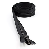 Thumbnail Image for YKK® VISLON® UV #8 Separating Zipper Non-Locking Double Pull Metal Slider #VFUV 54