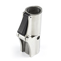 "Thumbnail Image for Locking Rail Hinge with Push Button Release #200927 Stainless Steel Type 316 7/8"" OD Tubing"
