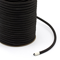 "Thumbnail Image for Polypropylene Covered Elastic Cord #M-5 5/16"" x 150' Black"