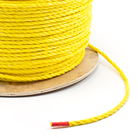 "Thumbnail Image for 3-Strand Polypropylene Rope 1/4"" x 1200' Yellow"
