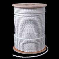 "Thumbnail Image for 3-Strand Polypropylene Rope 1/4"" x 600' White"
