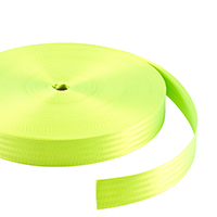"Thumbnail Image for Polyfab Shade Sail Edge Webbing 2"" x 109-yd Fluro Green"