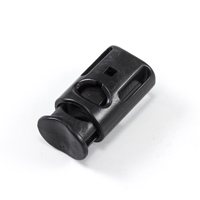Thumbnail Image for YKK® Single Cord Lock with Double Loop #LC05SHD2 Black from Trivantage